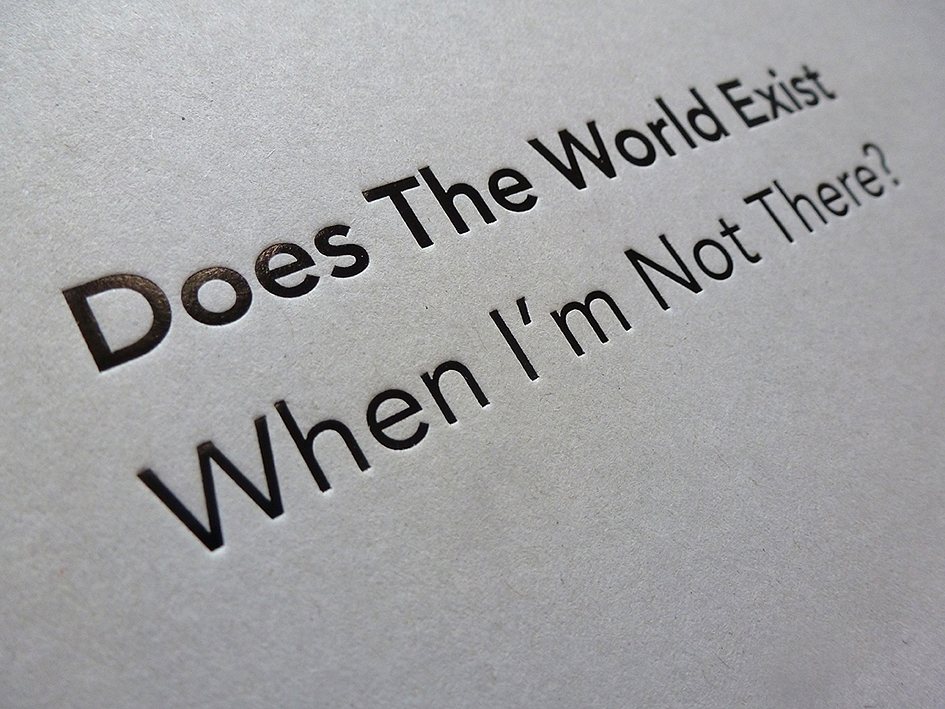 Detail aus Simon Faithfull – Does The World Exist When I'm Not There?