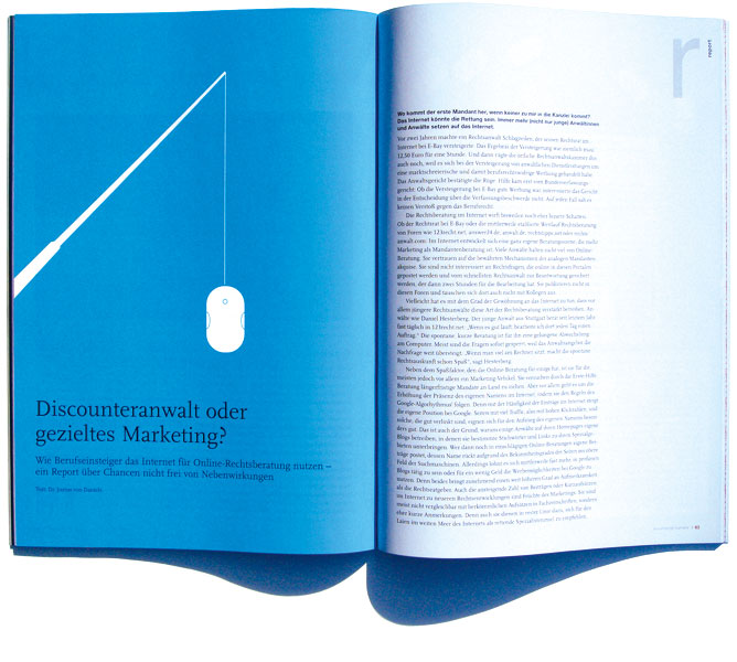 Detail of German Bar Association –<br/>Lawyers' Magazine Career