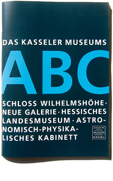 Detail of The Kassel Museums' ABC –<br/>Brochure