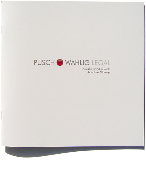 Detail of Pusch Wahlig Legal Brochure
